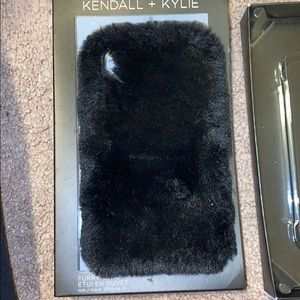 Kendall and Kylie furry IPhone X case